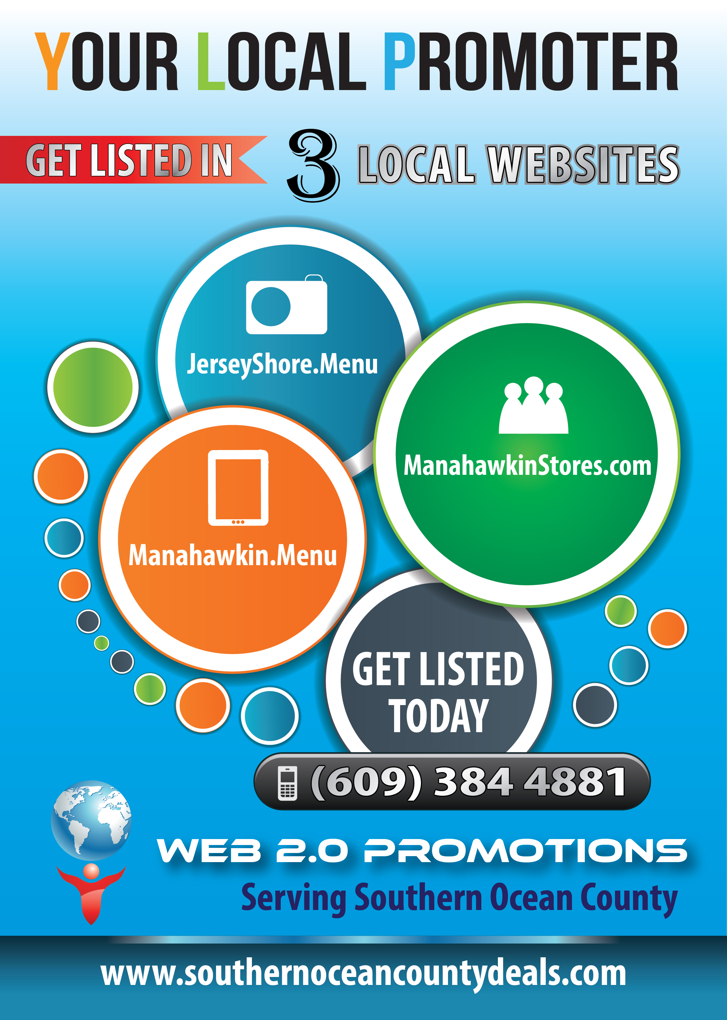 Get Listed in the ALL New JerseyShore. Menu Website